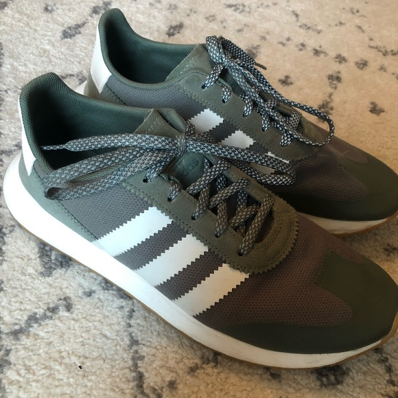 Womens Olive Green Adidas Tennis Shoes